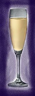 Champagneglas blauw