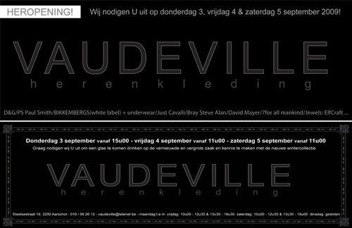 Vaudeville heropening