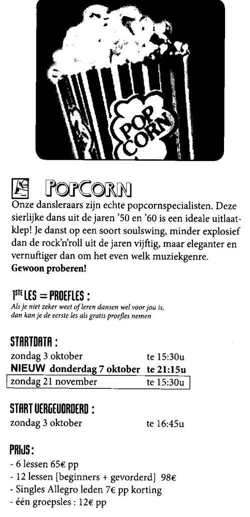 Popcorn lessen okt 2010