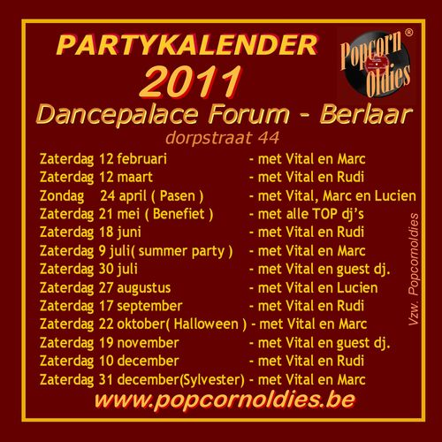 Partykalender 2011 Forum Final