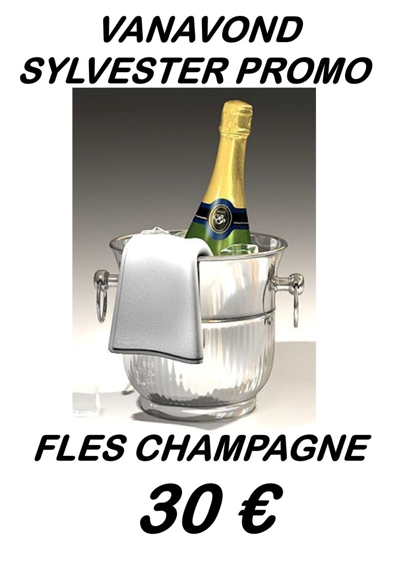 Sylvester promo - champagne 30 €