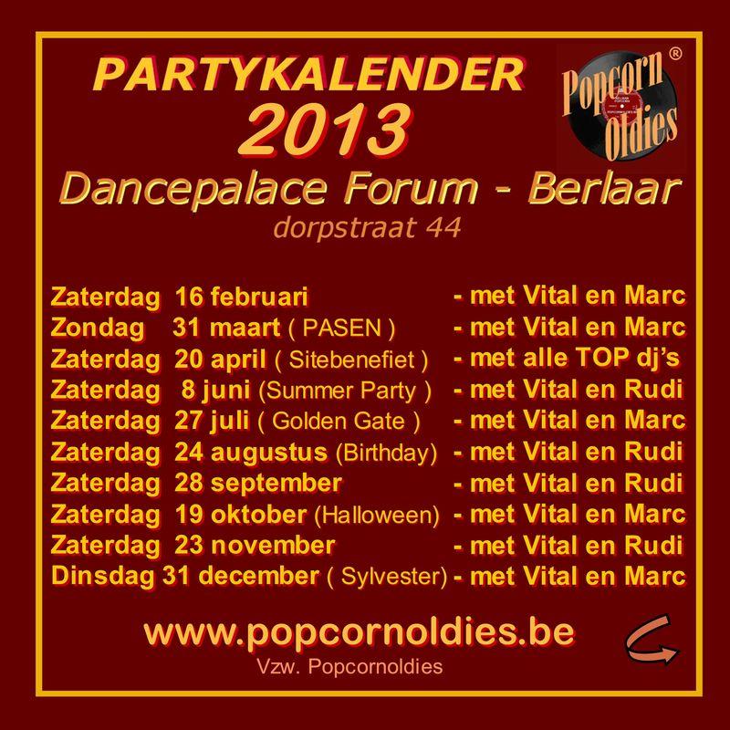 Partykalender 2013 Forum Carre S