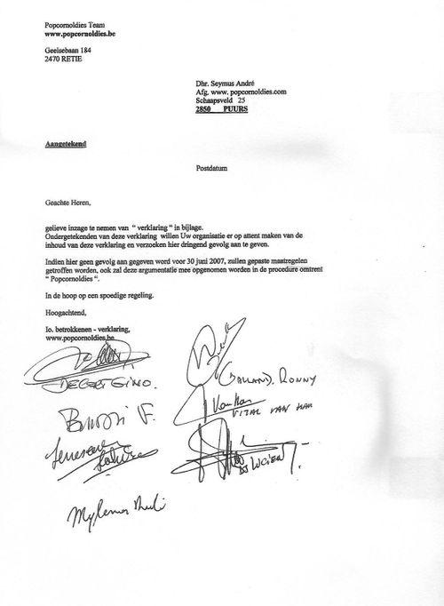 Popcornoldies: Brief en Verklaring met Lucien